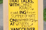Go to Three Evenings with Chris Kraus