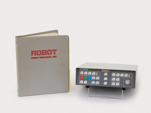 Slowscan Robot 1200c and manual. Robot Research Inc. (c. 1993). Photo: Rachel Topham Photography.