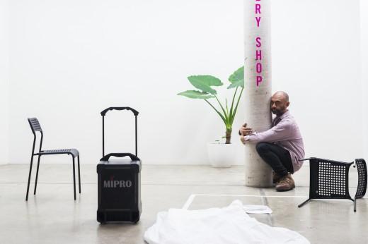 Brian Fuata, IWMDFS (or mini-bar) (2017), Institute of Modern Art, Brisbane. Photo: Louis Lim.